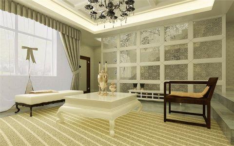 客厅茶几混搭风格效果图