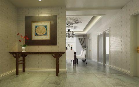 玄关地砖混搭风格装饰效果图