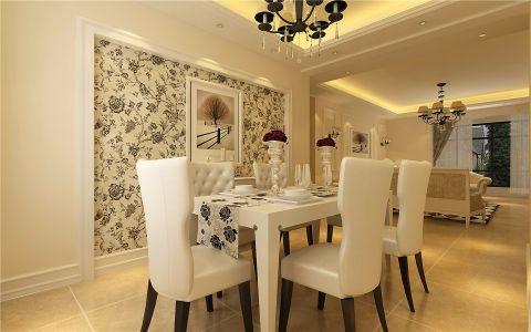 餐厅餐桌简欧风格装潢效果图