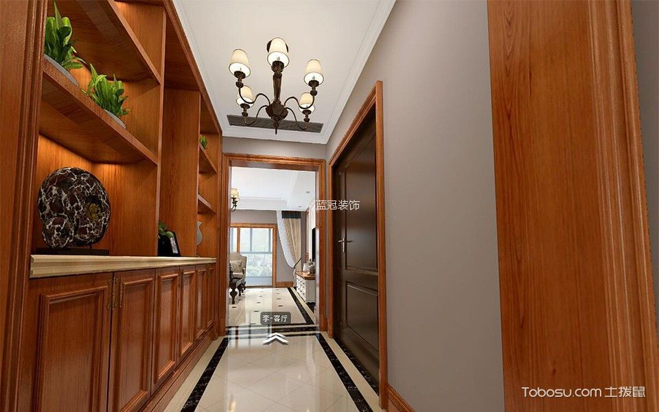 玄关白色吊顶新古典风格装饰图片