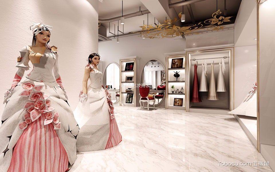 欧式风格婚纱摄影社过道装修实景图