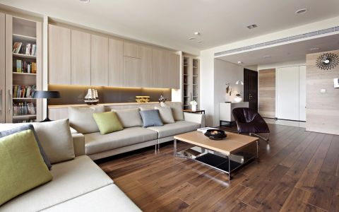 现代风格130平米四室两厅新房装修效果图