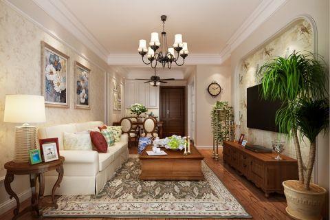 美式风格80平米两室两厅新房装修效果图
