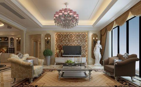 欧式风格150平米大户型室内装修效果图