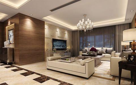 现代风格218平米四室两厅新房装修效果图