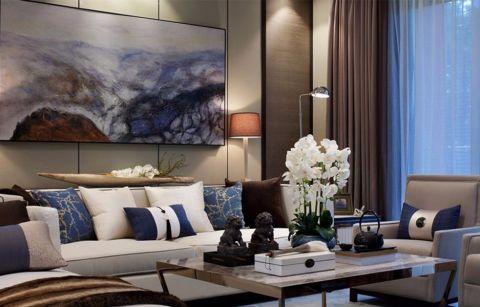 中式风格120平米三室两厅室内装修效果图