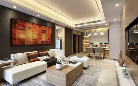 现代简约风格150平米三室两厅新房装修效果图