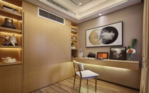 书房地板砖现代简约风格效果图