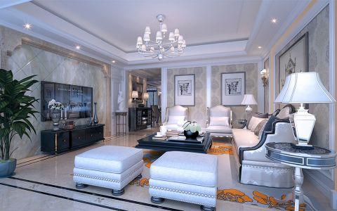 简欧风格218平米四室两厅新房装修效果图