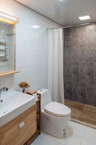 卫生间背景墙日式风格装饰设计图片