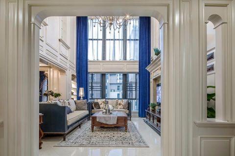 客厅茶几法式风格装潢图片