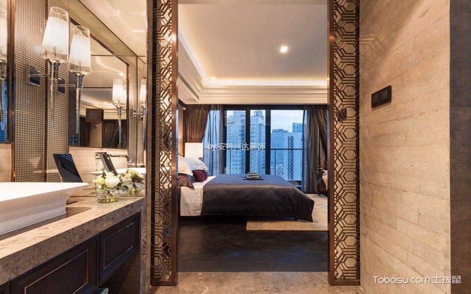 卧室咖啡色走廊现代风格装修设计图片