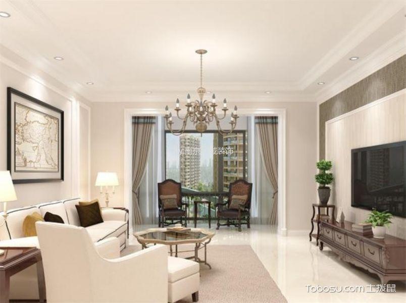 6万预算110平米两室两厅装修效果图