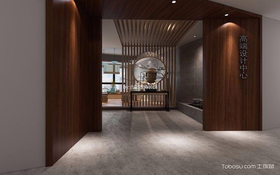 新中式风格办公室门厅装潢图