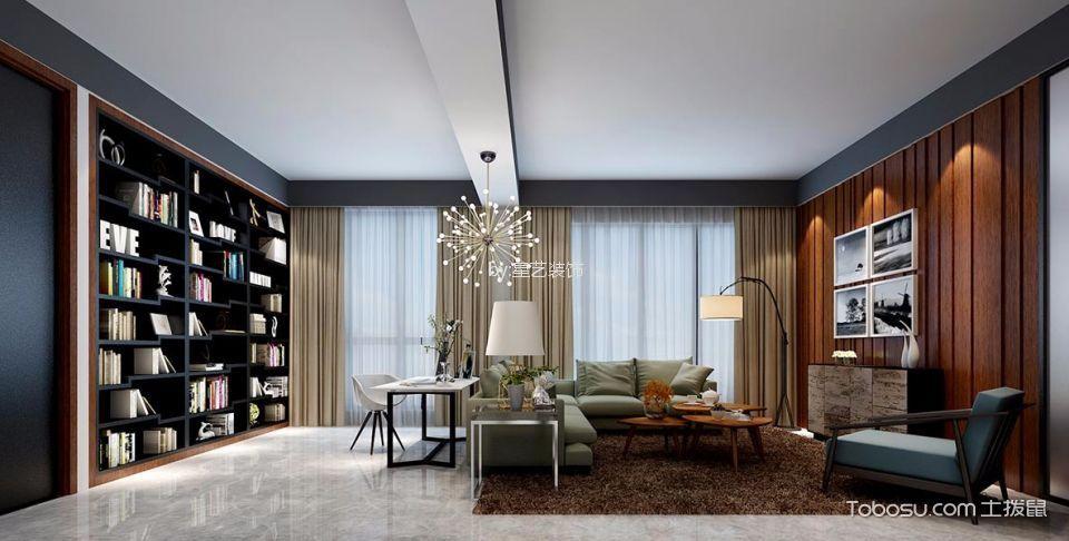 客厅咖啡色背景墙现代简约风格装潢图片