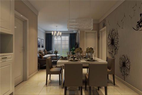餐厅白色走廊现代风格装潢效果图