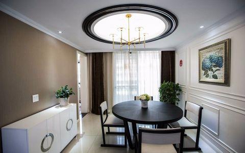 餐厅白色吊顶现代简约风格效果图