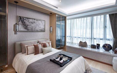 卧室白色飘窗现代简约风格装饰效果图