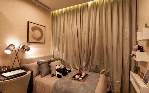 儿童房米色窗帘现代简约风格装修图片