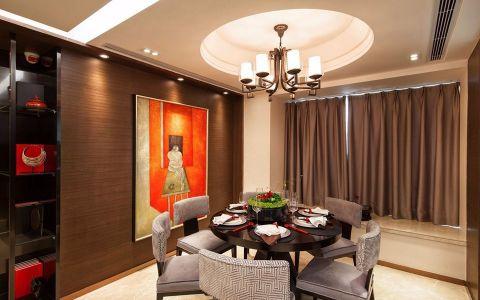餐厅米色背景墙现代简约风格装饰图片
