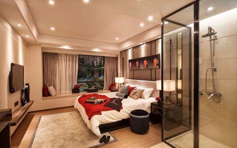 卧室米色隐形门现代简约风格装潢图片