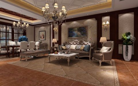 天御一品美式风格别墅家装效果图