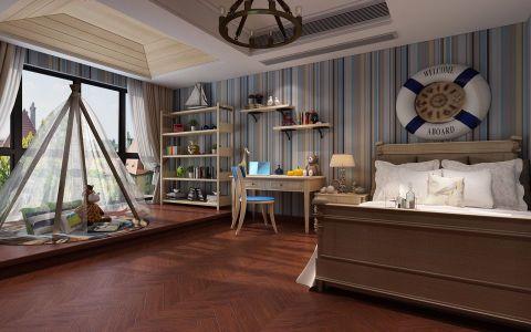卧室地板砖美式风格装饰设计图片