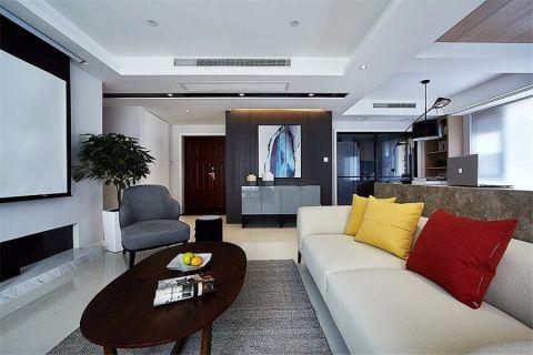 客厅吊顶简约风格装潢效果图