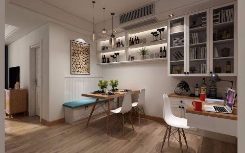 餐厅白色背景墙北欧风格效果图