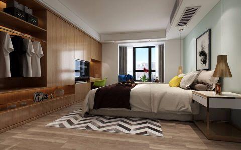 卧室白色吊顶北欧风格装修效果图