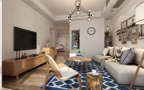 客厅白色照片墙北欧风格装饰效果图