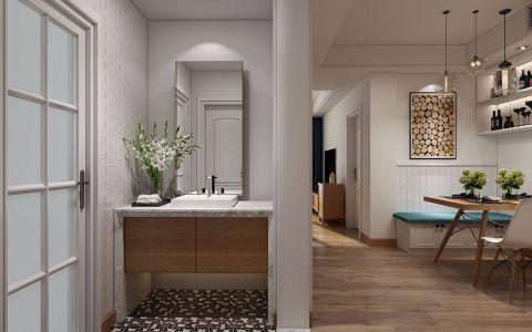 餐厅白色走廊北欧风格装潢效果图