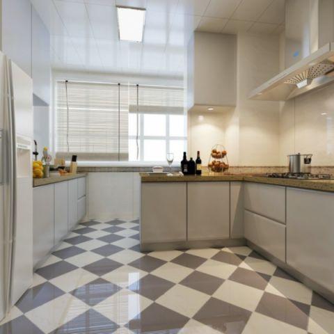 厨房白色窗帘简约风格装饰效果图
