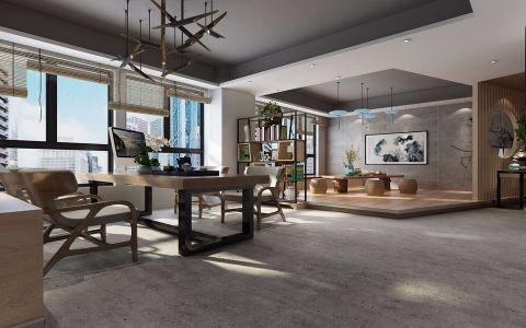 新中式风格设计中心办公室装饰效果图