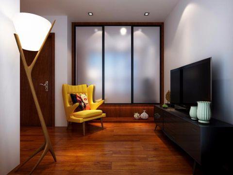 卧室黑色电视柜现代简约风格装饰设计图片