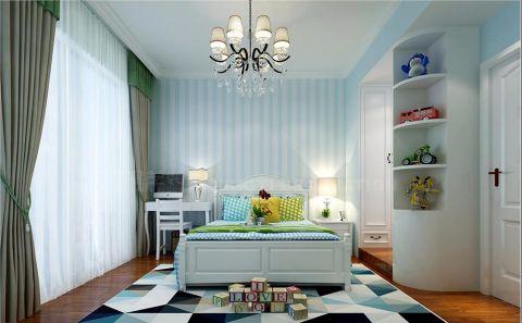 儿童房灰色窗帘简欧风格效果图