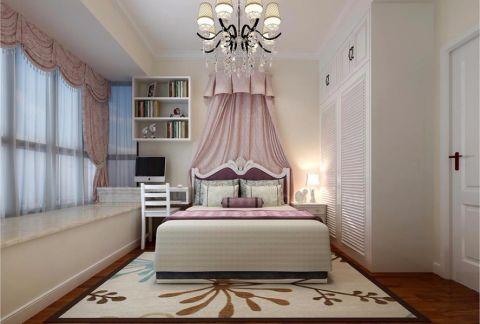 儿童房粉色窗帘简欧风格装修效果图