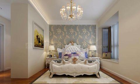 卧室米色背景墙简欧风格装饰效果图