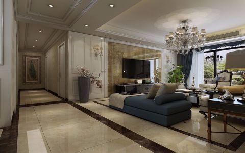 客厅米色走廊欧式风格装修设计图片