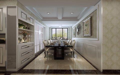 餐厅白色吊顶欧式风格装饰设计图片
