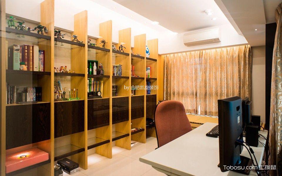 书房黄色书架现代风格装修设计图片
