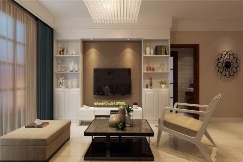 客厅米色窗帘现代简约风格装饰效果图