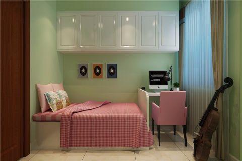 儿童房白色窗帘现代简约风格装修图片