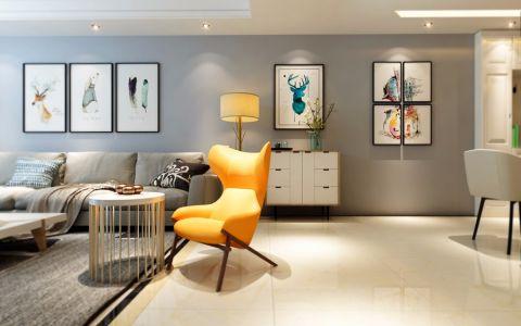 米色背景墙北欧风格装潢设计图片