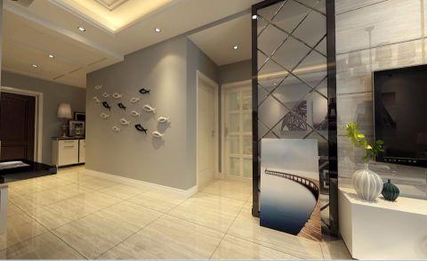 客厅灰色走廊现代简约风格装修设计图片