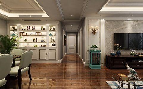 餐厅彩色走廊美式风格装修效果图