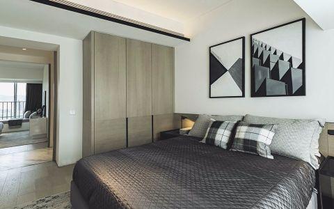 卧室白色背景墙现代风格装潢设计图片