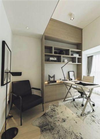 书房白色吊顶现代风格效果图