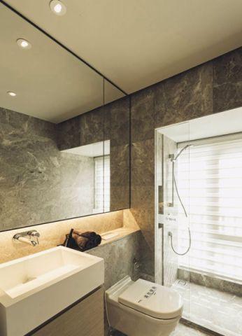卫生间白色隔断现代风格装修效果图