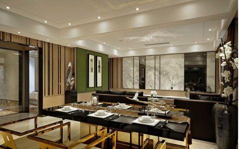 餐厅米色隔断现代风格装饰效果图